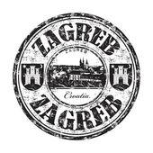Zagreb grunge rubber stamp — Stock Vector