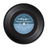 Christmas music vinyl records — Vector de stock