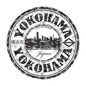 Yokohama grunge rubber stamp — Stock Vector