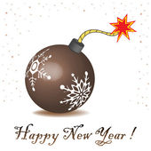 New Year's bomb — Stock Vector