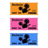 Entradas de cine blockbuster — Vector de stock