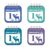 First January calendar sheets — Stock Vector