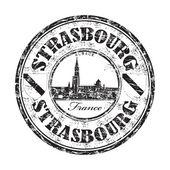 Sello de goma de grunge de estrasburgo — Vector de stock