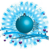 Blue Christmas ball — Stock Vector