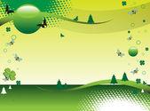 Green fields — Stock Vector