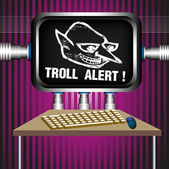 Troll alert — Stock Vector