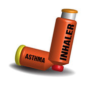 Asthma inhaler — Vector de stock