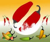 Hot pepper — Stock Vector