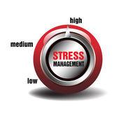 Stress management button — Stock Vector