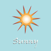 Sunny weather — Stock Vector