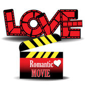 Film romantico — Vettoriale Stock