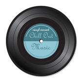 Chill out music vinyl record — Stock Vector