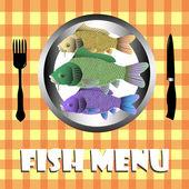 Fish menu — Stockvector