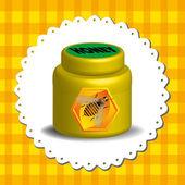 Honig krug — Stockvektor