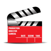Red clapboard — Stockvector
