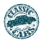 Classic cars for sale grunge rubber stamp — Stock Vector