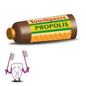 Propolis toothpaste — Stock Vector