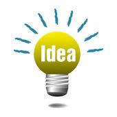 Idea light bulb — Stock Vector