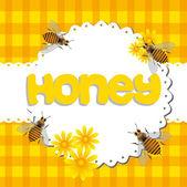 蜂蜜 — ストックベクタ