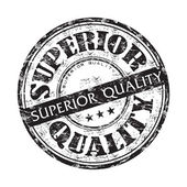 Superior quality grunge rubber stamp — Stock Vector
