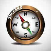 Success compass — Stock Vector