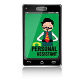 Personal assistant — Stock Vector