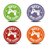War game stickers — Stock Vector