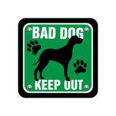 Piastra cane cattivo — Vettoriale Stock
