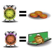 Zaman para demektir — Stok Vektör