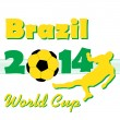 Постер, плакат: Football World Cup 2014