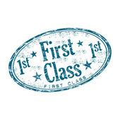 First class grunge rubber stamp — ストックベクタ