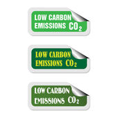 Low carbon emissions — Stock Vector