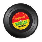 Reggae music vinyl record — Stock Vector