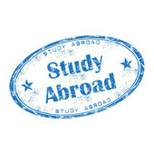 Study abroad grunge rubber stamp — Stock Vector