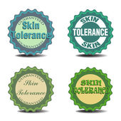 Skin tolerance badges — Stock Vector