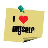 I love myself note — Stock Vector