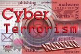 Cyber terrorism — Stock Vector