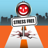 Stress free plate — Stock Vector