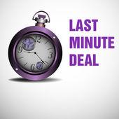 Last minute deal — Stock Vector