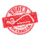 Ebola outbreak grunge rubber stamp — Stock Vector