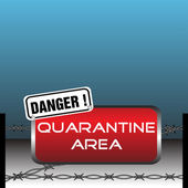 Quarantine area — Stock Vector