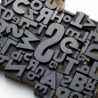 Typefaces in composition — Stock Photo