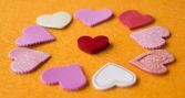 纸的心 — 图库照片