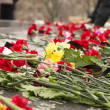 Stock Photo: Flowers at memorial