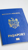 A new moldavian biometrical passport — Stock Photo