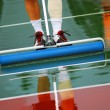 Tennis rainout - Stock Photo