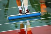 Tennis rainout — Stock Photo