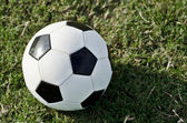 Soccer ball on field — Stock Photo