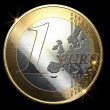 1 euro coin - Stock Photo