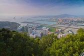 Pas startowy lotniska w gibraltarze — Zdjęcie stockowe